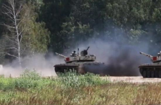 坦克大赛开战中国96B坦克热身