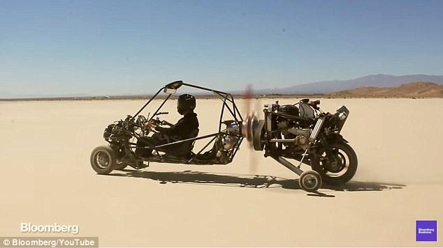 吊炸天!原美军方工程师发明飞行概念车