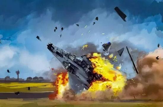 绘画深度还原歼15战机坠机经过