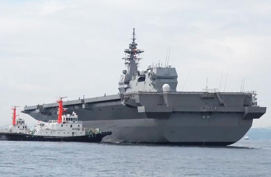 日本出云级准航母2号舰海试