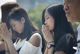 广岛核爆71周年 日民众悼念核爆遇难者