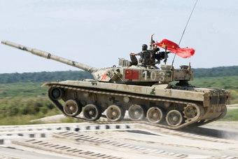 坦克大赛中国96式战车初战告捷