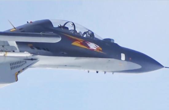 中国空军多型战机巡航南海