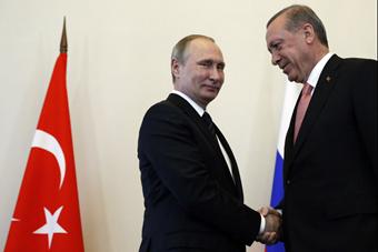 土总统埃尔多安见普京 实现破冰会面