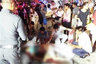 一中国游客泰国过马路时被撞身亡