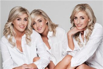 最美三胞胎模特 同吃同住还同三围!