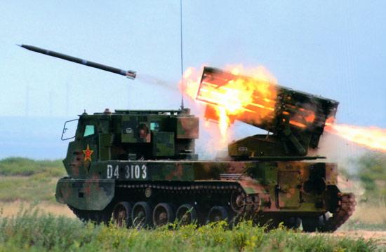 国产新型履带式火箭炮发射曝光