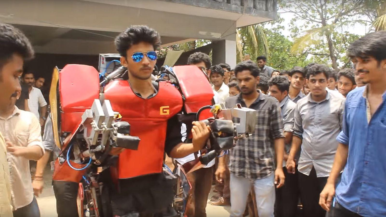 印度学生也开挂 现实版钢铁侠便宜又好用