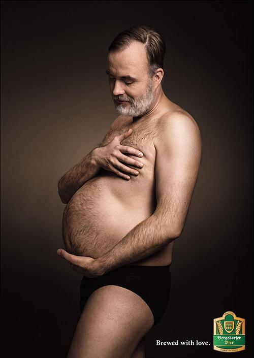 原来男人也会怀孕 爱孕肚也爱啤酒肚