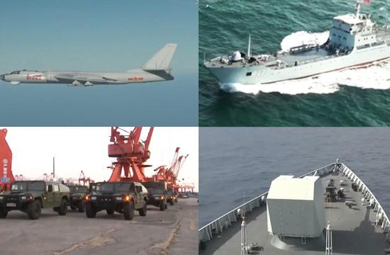 南海舰队演练岛礁防御机动保障