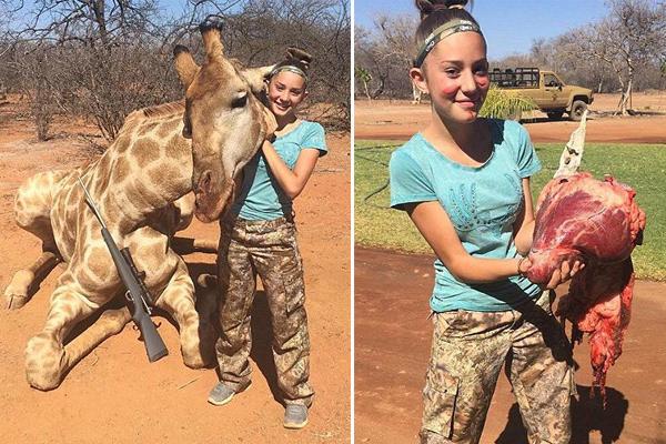 美12岁冷血少女面露微笑晒大量猎杀动物照