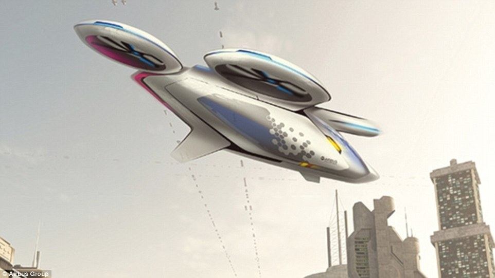 科技感十足 空客或推出无人飞行出租车