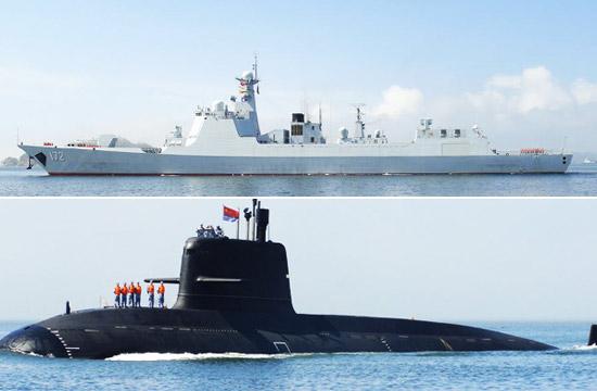 海军最强战舰潜艇疑似齐聚大连