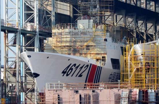 又一艘054A版海警船即将下水