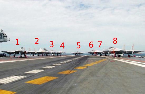 辽宁舰一口气上8架歼15战机