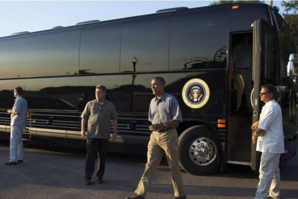 比陆军一号还牛 奥巴马专用大巴价值723万