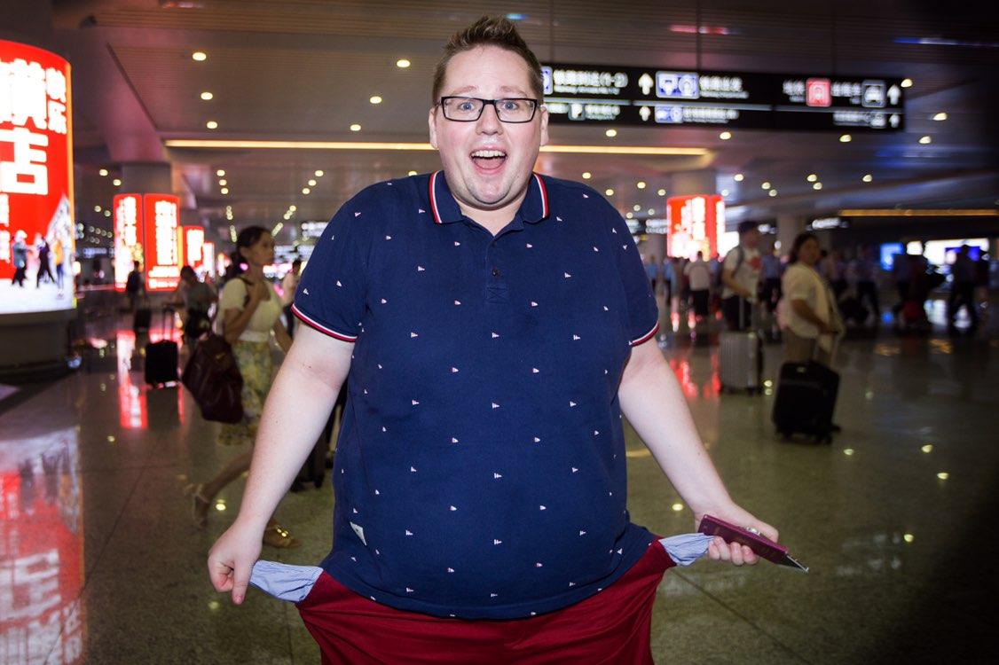 德国胖子网红:在杭州身无分文的24个小时
