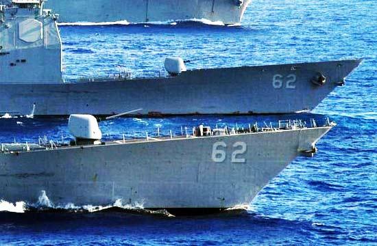 """美国海军战舰也玩""""套牌""""?"""