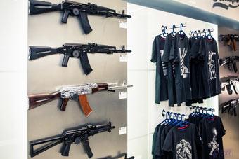 卡拉什尼科夫在机场开店卖枪