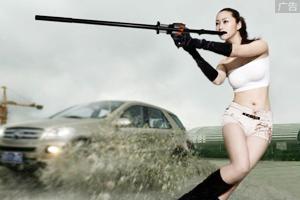 黑鹰大威力竞技狩猎吹箭!