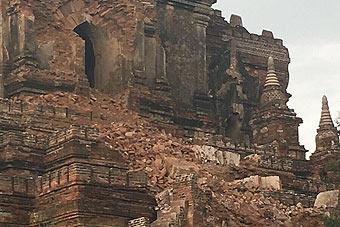 缅甸6.9级地震中印有震感 有寺庙遭损毁