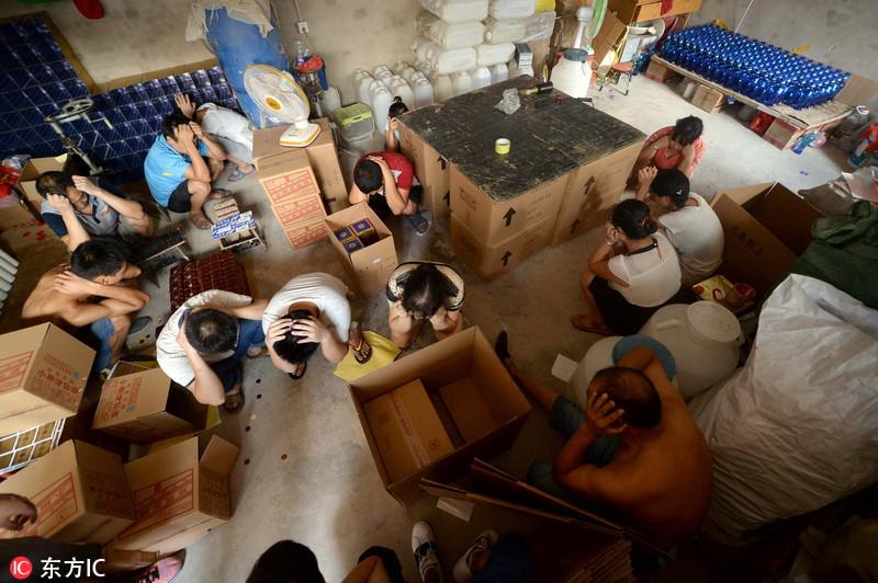 北京2000平米超大假酒作坊被端 20多人现场被抓