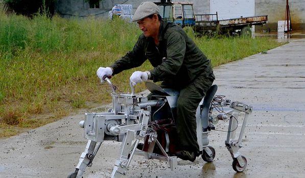 """黑龙江:民间""""发明家""""发明制作出""""机械狗"""""""