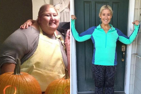 美国肥胖女孩减重323斤 演绎励志人生