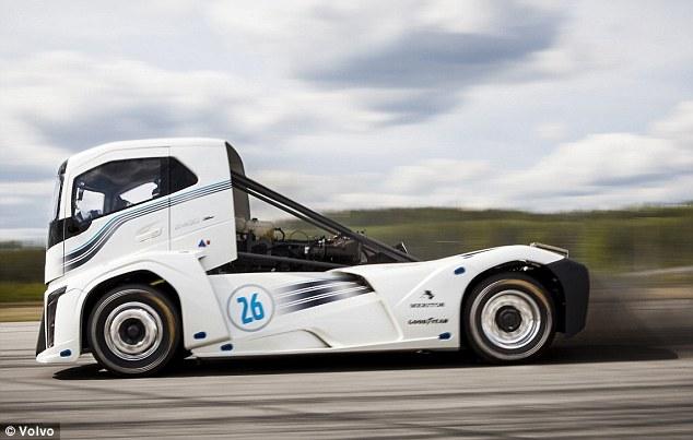 沃尔沃极速重卡打破直线加速世界纪录