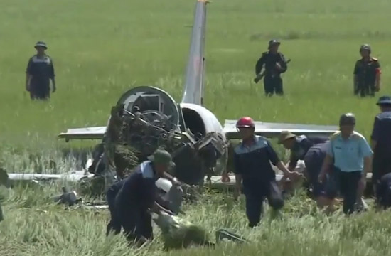 越南一架L39战机演习中坠毁