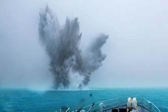 南海舰队成功扫爆新型水雷