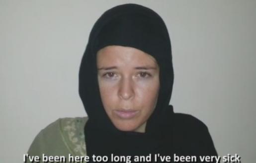 美国人质生前求救画面曝光 曾沦IS领袖性奴