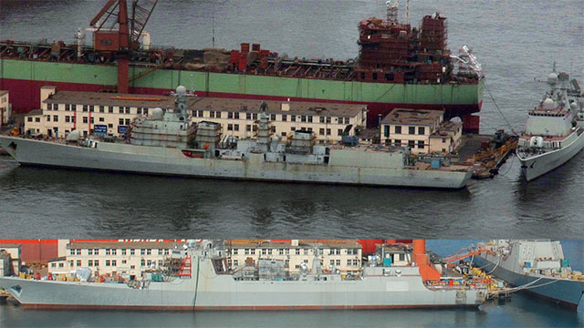 2图对比中国海军十年发展