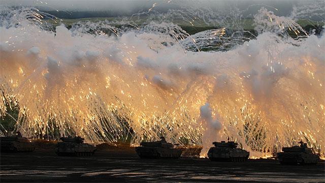 日本陆自最大规模实弹演习现场