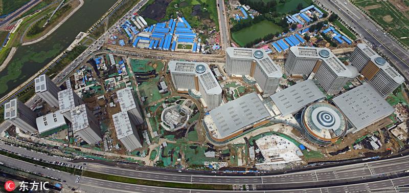"""郑州""""全球最大医院""""再扩容 航拍新院区即将开诊"""