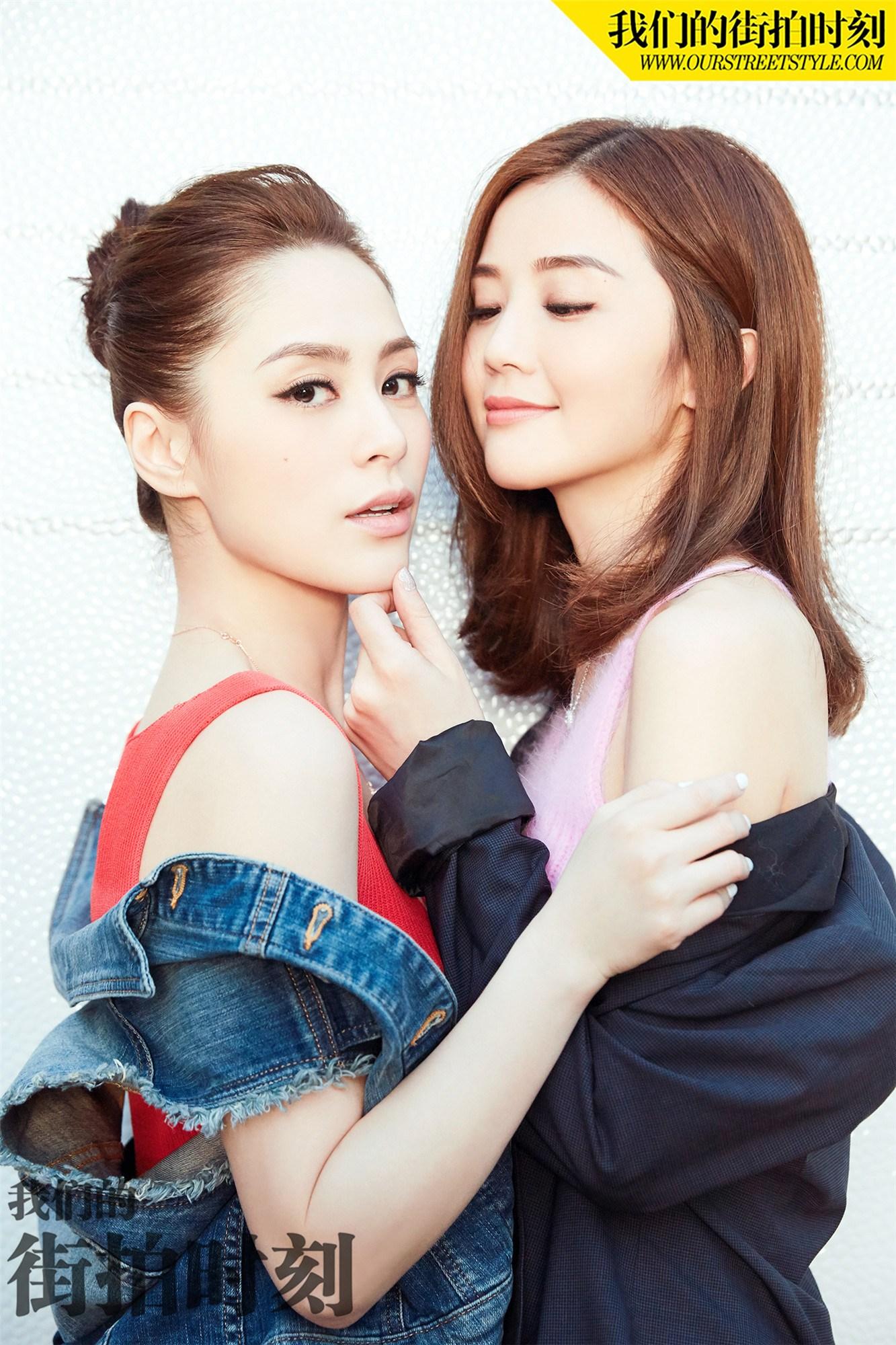 Twins姐妹高颜值街拍曝光 秀甜腻闺蜜情