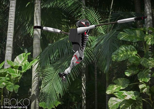丛林探险者的福音!大猩猩机器人可运送紧急物资