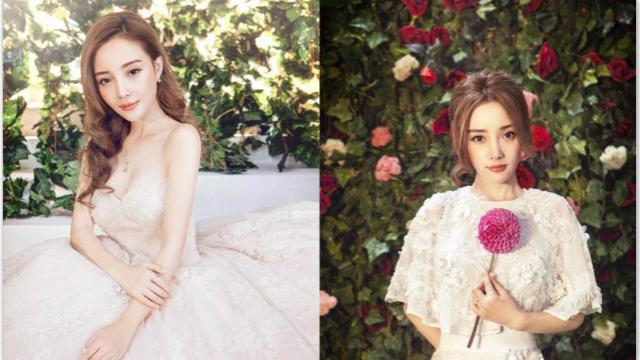 李小璐再披婚纱拍写真