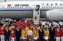 奥运精英团抵京领重奖 总额两千万人均超百万