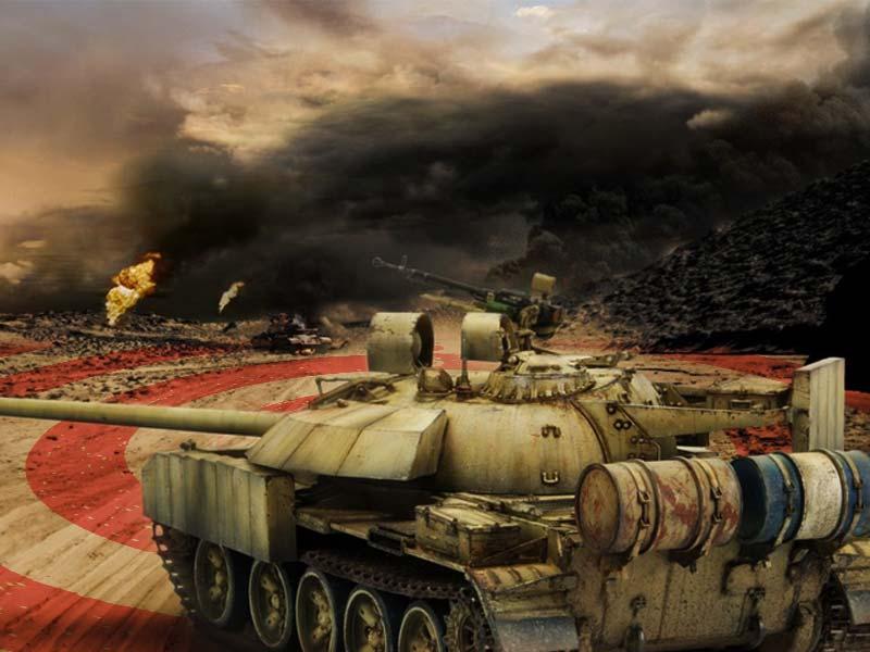 坦克开罐器 横行低空的武装直升机