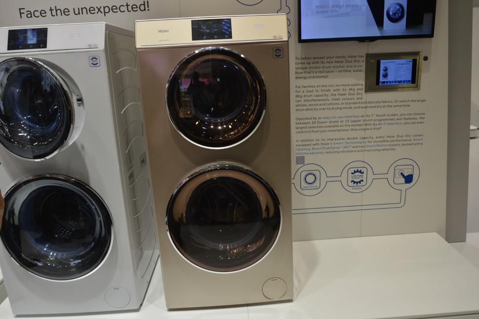 海尔全新双筒洗衣机 实现清洗烘干二合一