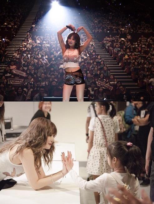 泫雅开启亚洲巡演 和粉丝零距离击掌