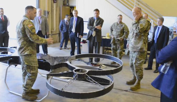 美军方展示四轴飞行器原型 飞行坐骑指日可待