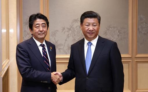 习近平会见安倍晋三:应排除对两国关系的干扰