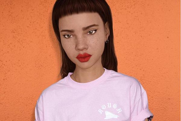 模特照片似虚拟动漫人物引网友热议