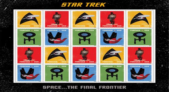 美翻了!美国邮政发布《星际迷航》50周年纪念邮票