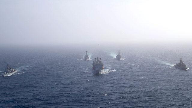 多国海军参加阿曼联合反潜演习