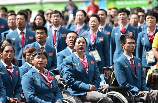 中国残奥代表团进驻奥运村 满意村里无障碍改造