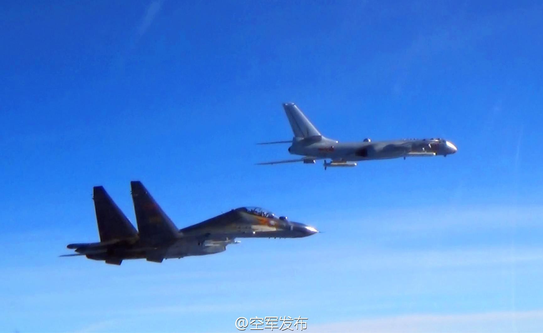 中国空军轰-6K、苏-30战机赴西太平洋远海训练 - 春华秋实 - 春华秋实 开心快乐每一天