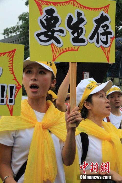 台湾观光业者2万人上街游行 怒吼